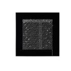 Lek med korsstygn | Akrylglas med broderi i silke och bomull